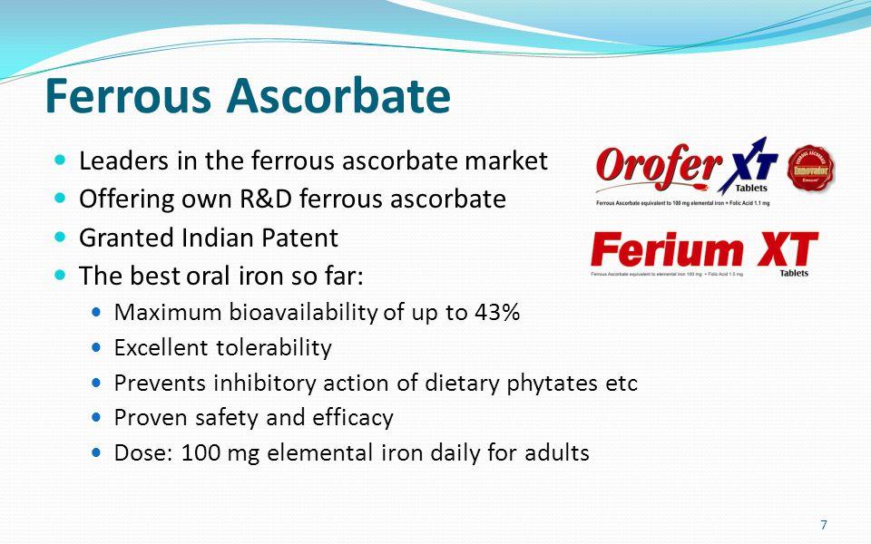 Why Ferrous Ascorbate.