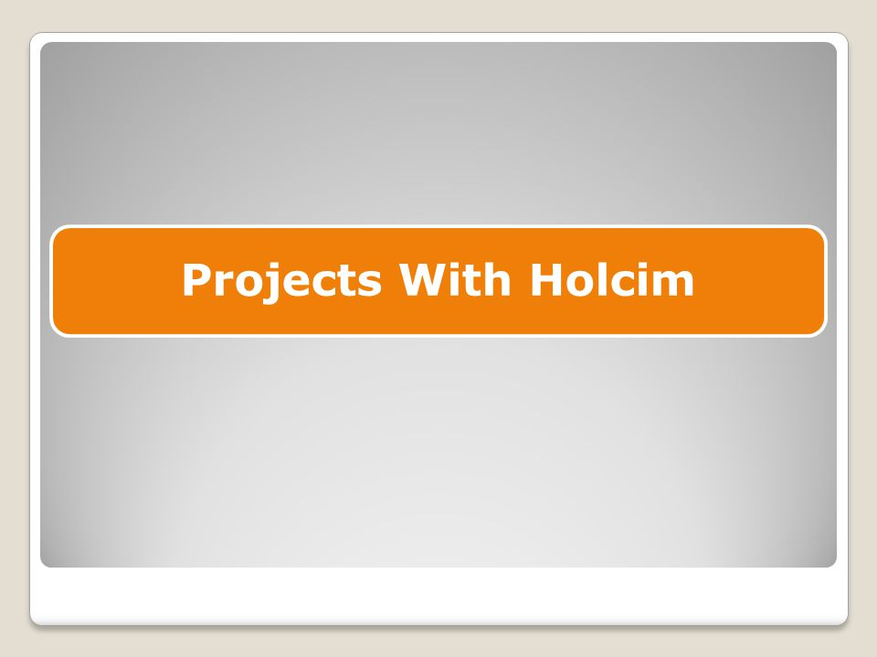 Projects With Holcim