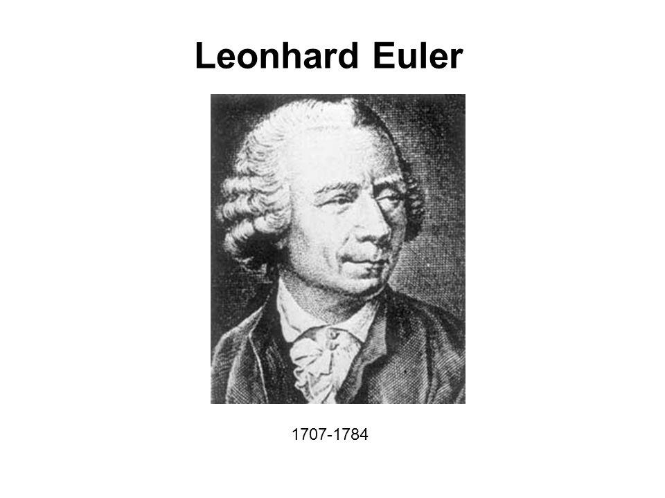 Leonhard Euler 1707-1784