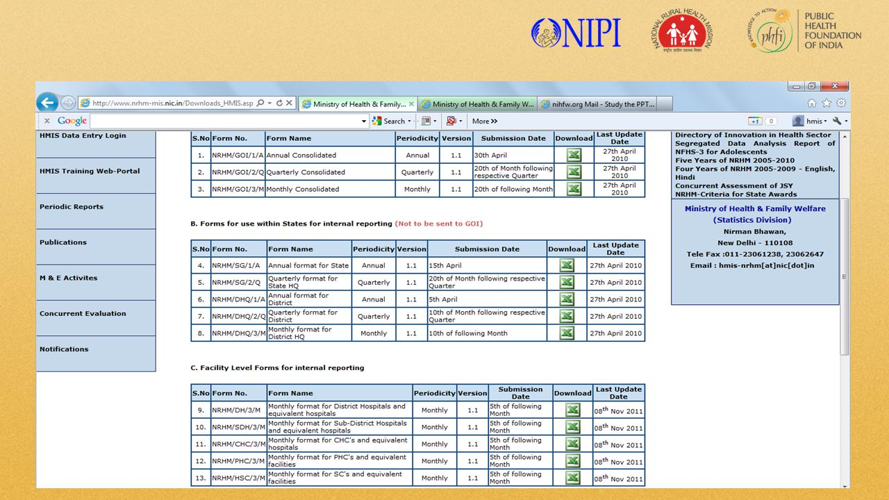 Excel Sheet for data entry