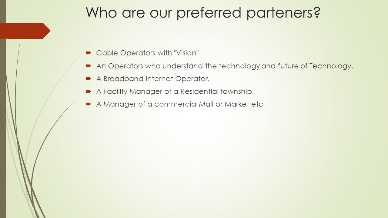 Who are our preferred parteners.