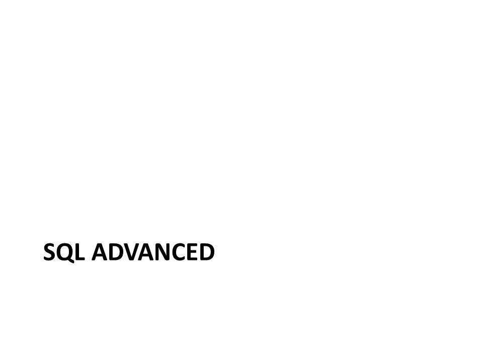 SQL ADVANCED