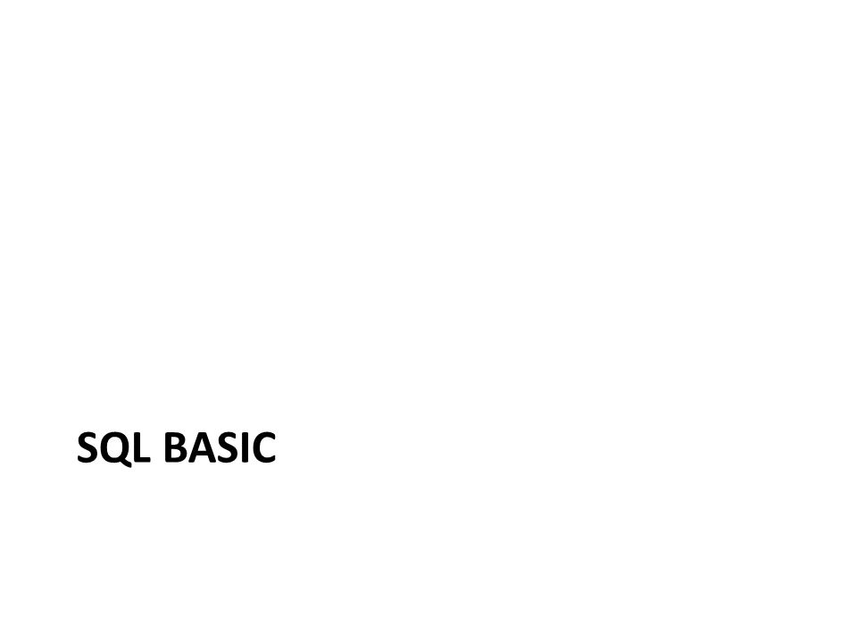 SQL BASIC