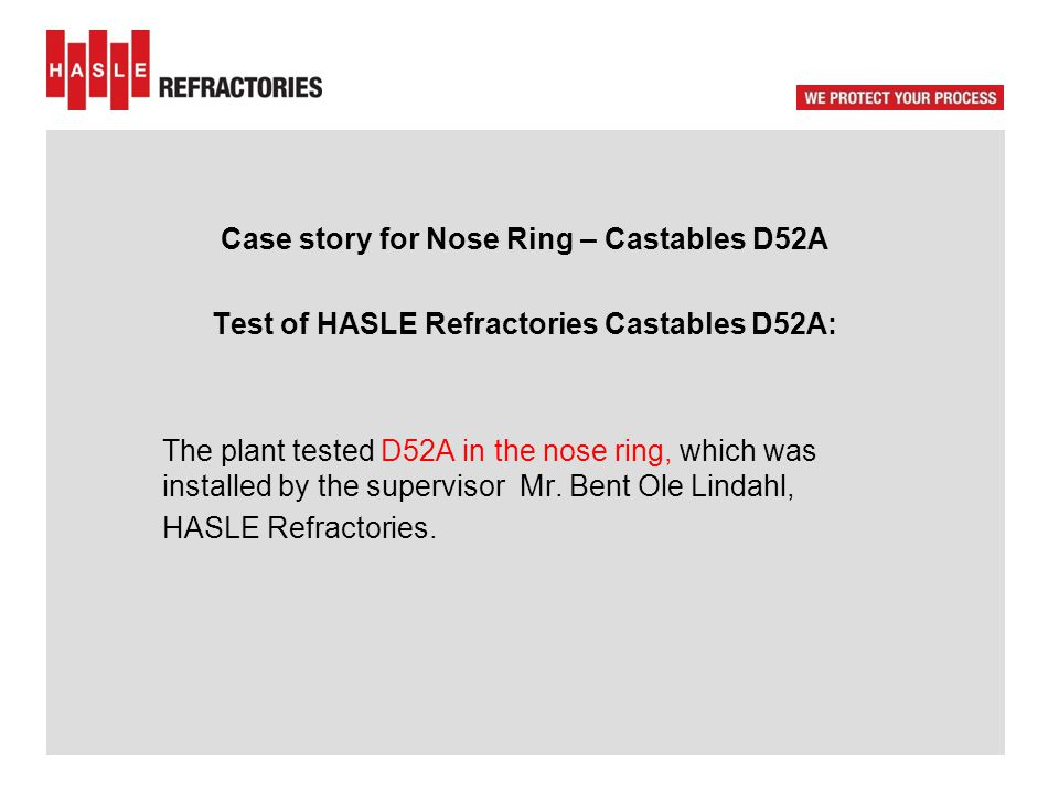 The plant - Case story for Nose Ring – Castables D52A Installation on site.