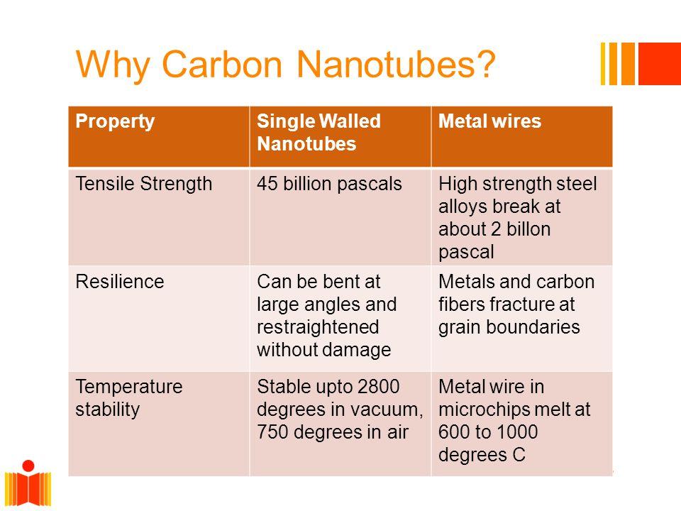 Why Carbon Nanotubes.
