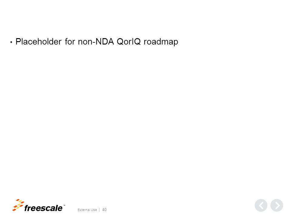 TM External Use 40 Placeholder for non-NDA QorIQ roadmap