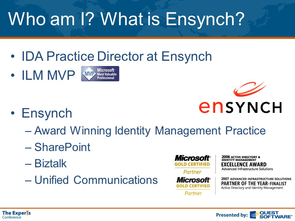 Who am I. What is Ensynch.