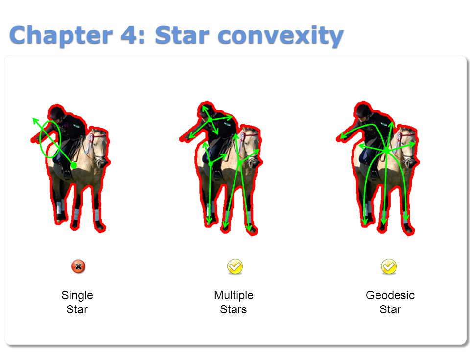 Chapter 4: Star convexity Single Star Multiple Stars Geodesic Star