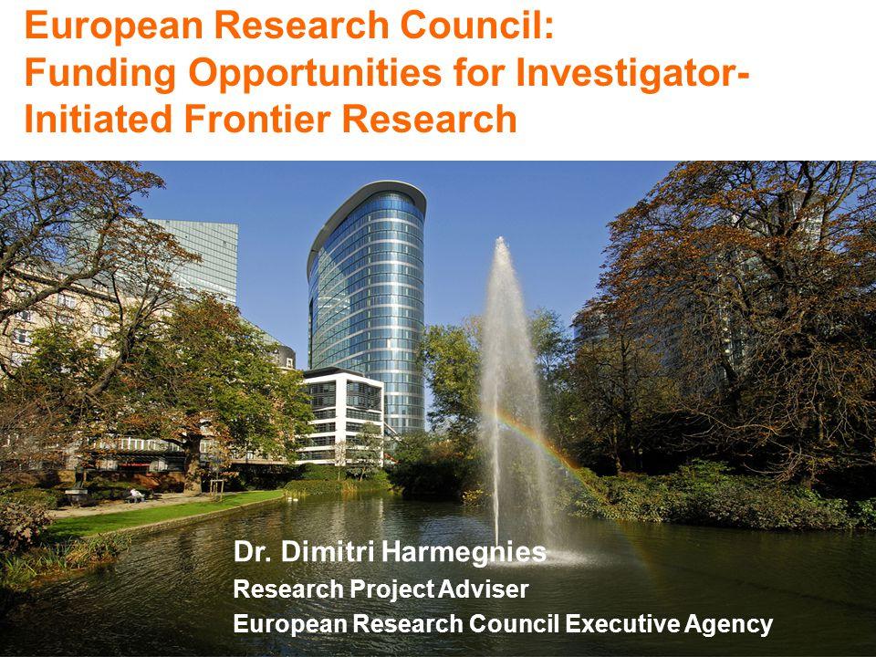 ERC: 15% Seventh Framework Programme for Research and Technological Development FP7 (2007-13) European Research Council ERC executes Ideas Programme: € 7.51 billion Total FP7 Budget: € 50.4 billion