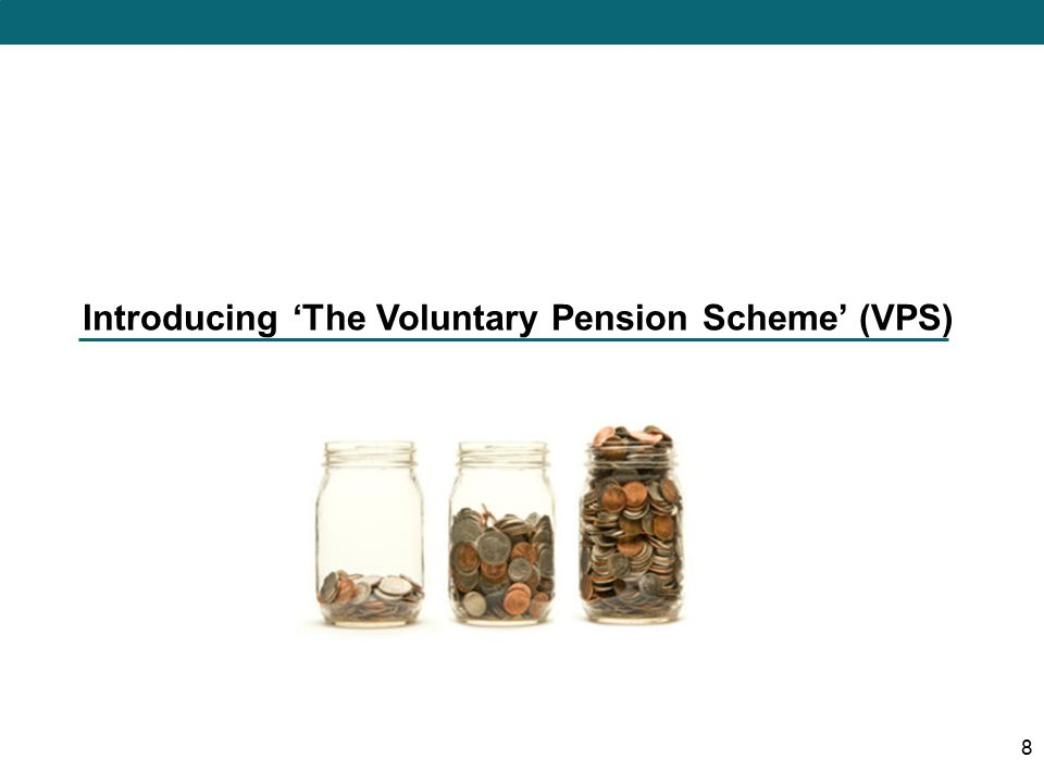 Introducing 'The Voluntary Pension Scheme' (VPS) 8