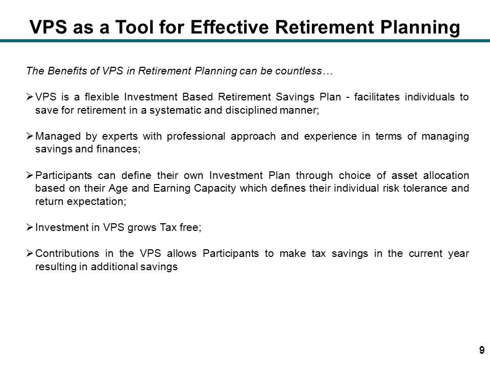 Voluntary Pension Schemes vis-à-vis other retirement schemes 20