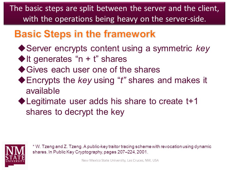 The basic steps are split between the server and the client, with the operations being heavy on the server-side.