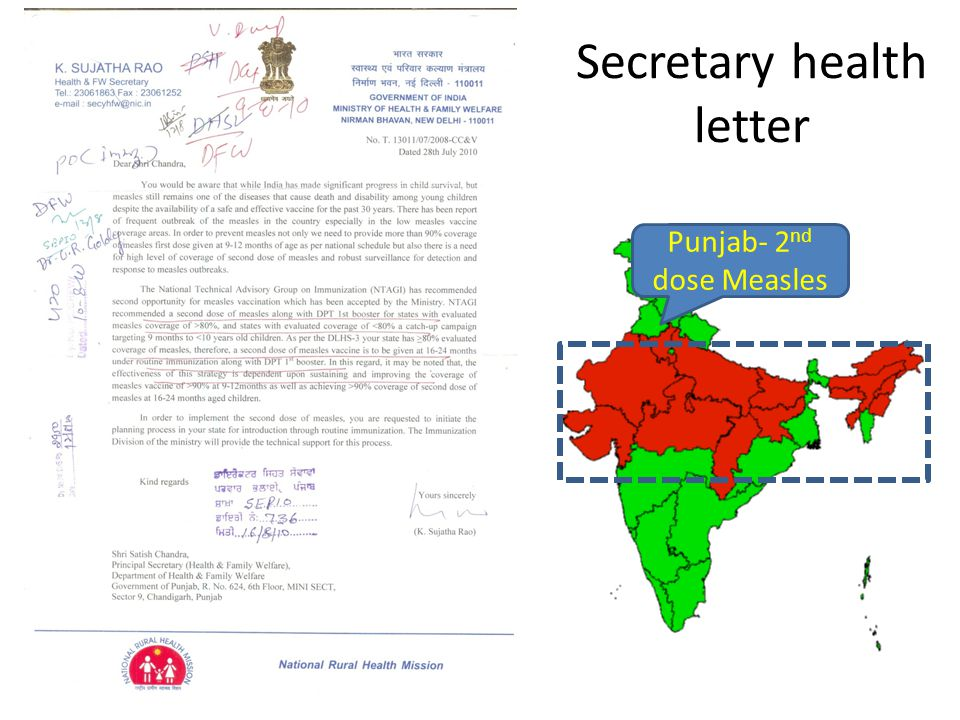 Secretary health letter Punjab- 2 nd dose Measles