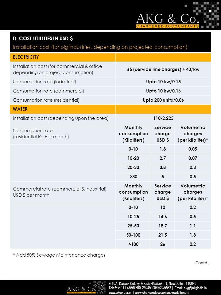 E-10A, Kailash Colony, Greater Kailash – 1, New Delhi – 110048 Telefax: 011-46664600, 29245500/5522/5533 | Email: akg@akgindia.in www.akgindia.in | www.charteredaccountantnewdelhi.com D.