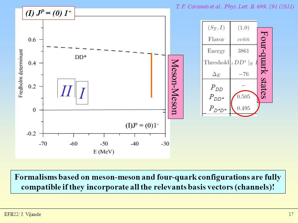 EFB22/ J. Vijande17 T. F. Caramés et al., Phys.