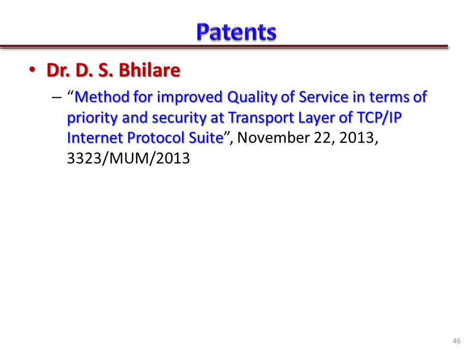 Dr. D. S. Bhilare Dr. D. S.
