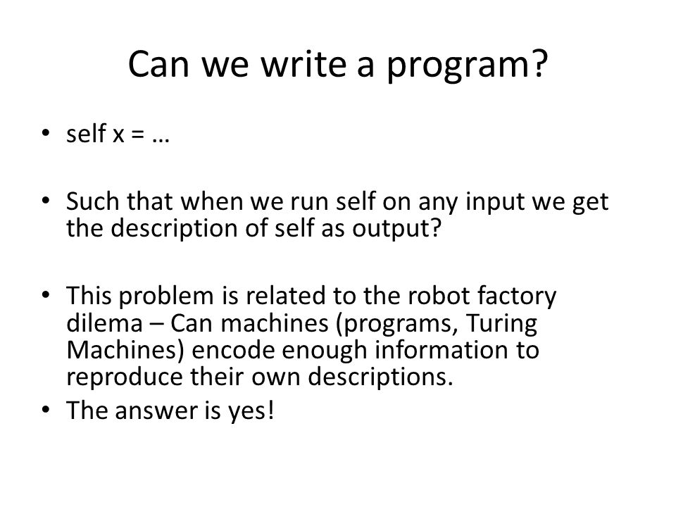 Can we write a program.
