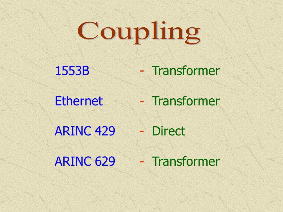 1553B - Predetermined Ethernet - Not Determined ARINC 429 - Fixed ARINC 629 - Multitransmitter