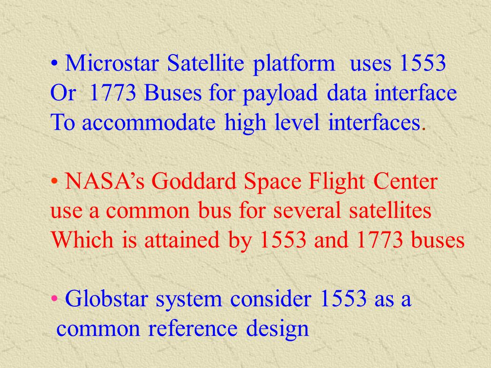 In SWAS, NASA's UBMILLIMETER WAVE ASTRONOMY SATELLITE use 1553 data bus for On-Board Data Handling system In TRACE, NASA TRANSITION REGION AND CORNAL