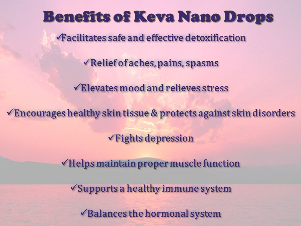 Facilitates safe and effective detoxification Facilitates safe and effective detoxification Relief of aches, pains, spasms Relief of aches, pains, spa