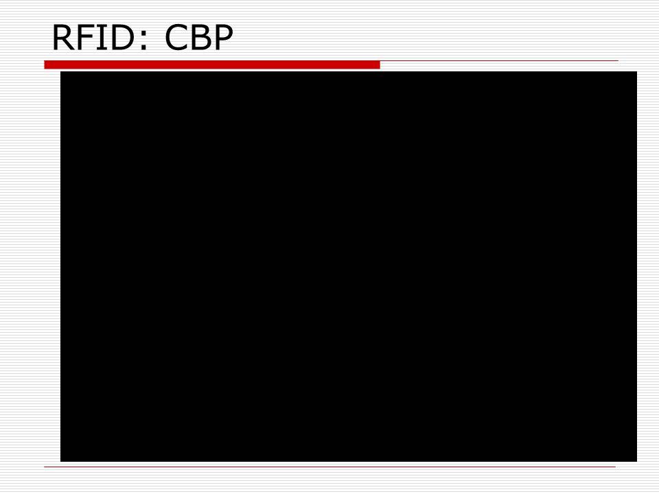 RFID: CBP