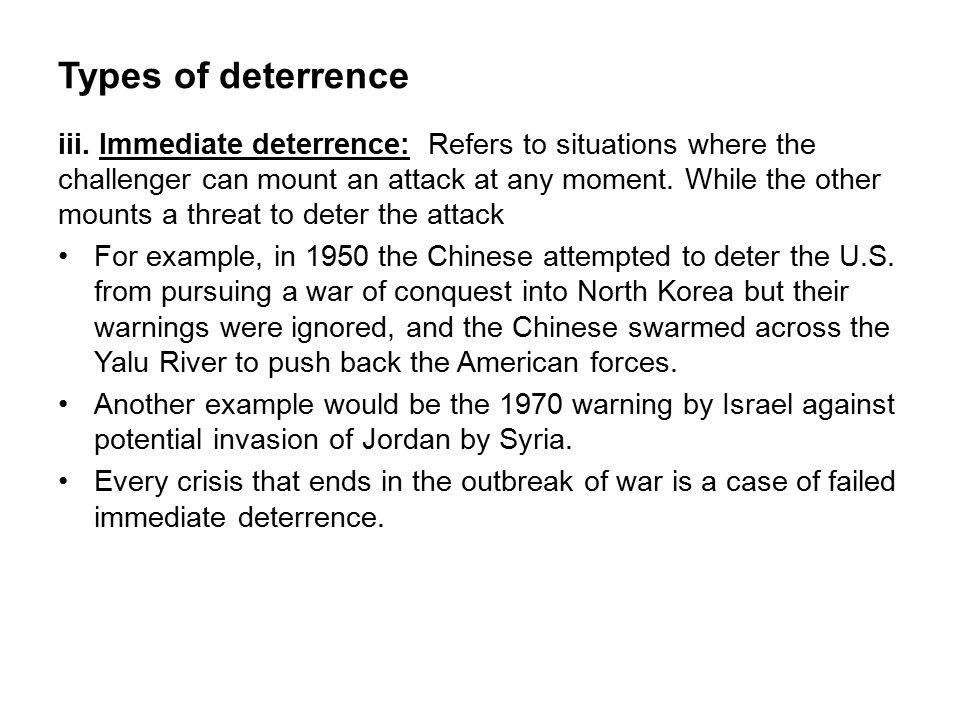Types of deterrence iii.