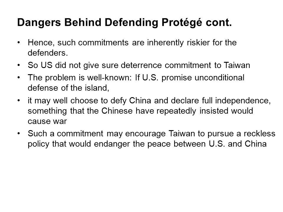 Dangers Behind Defending Protégé cont.