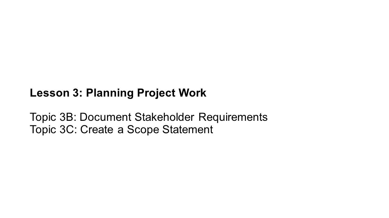 Scope Change Control Ensures that any changes to the project's scope will help the project achieve its MOV.