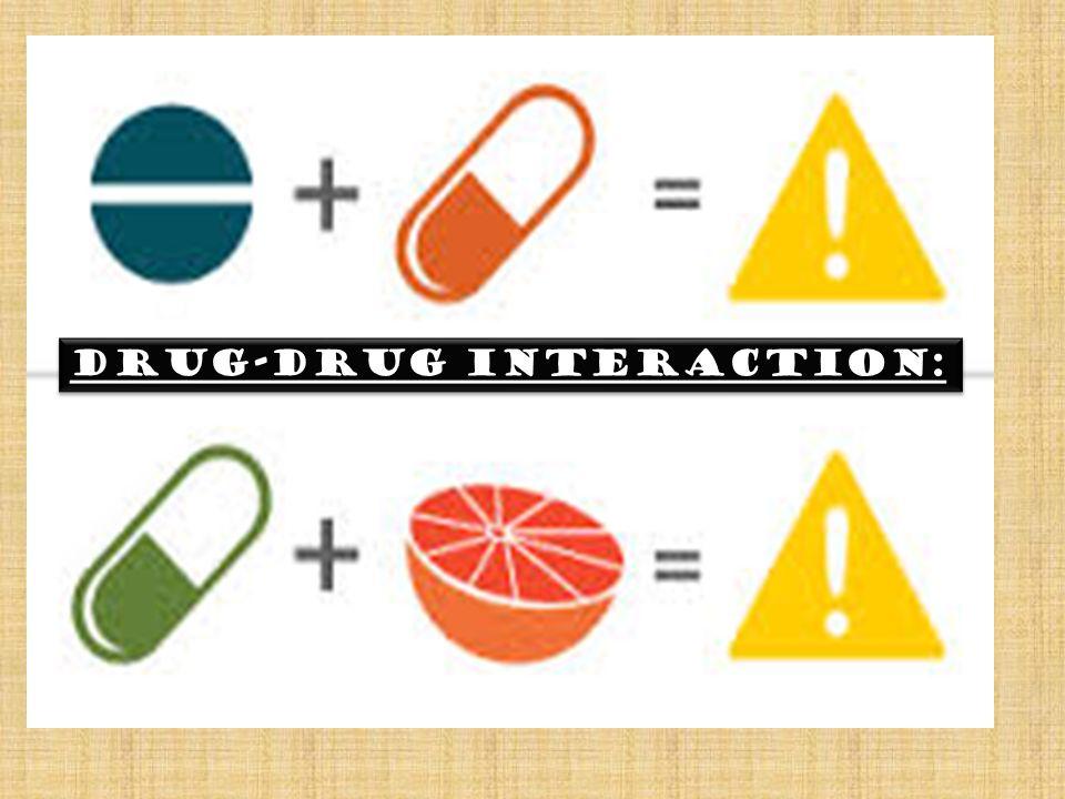 DRUG-DRUG INTERACTION: