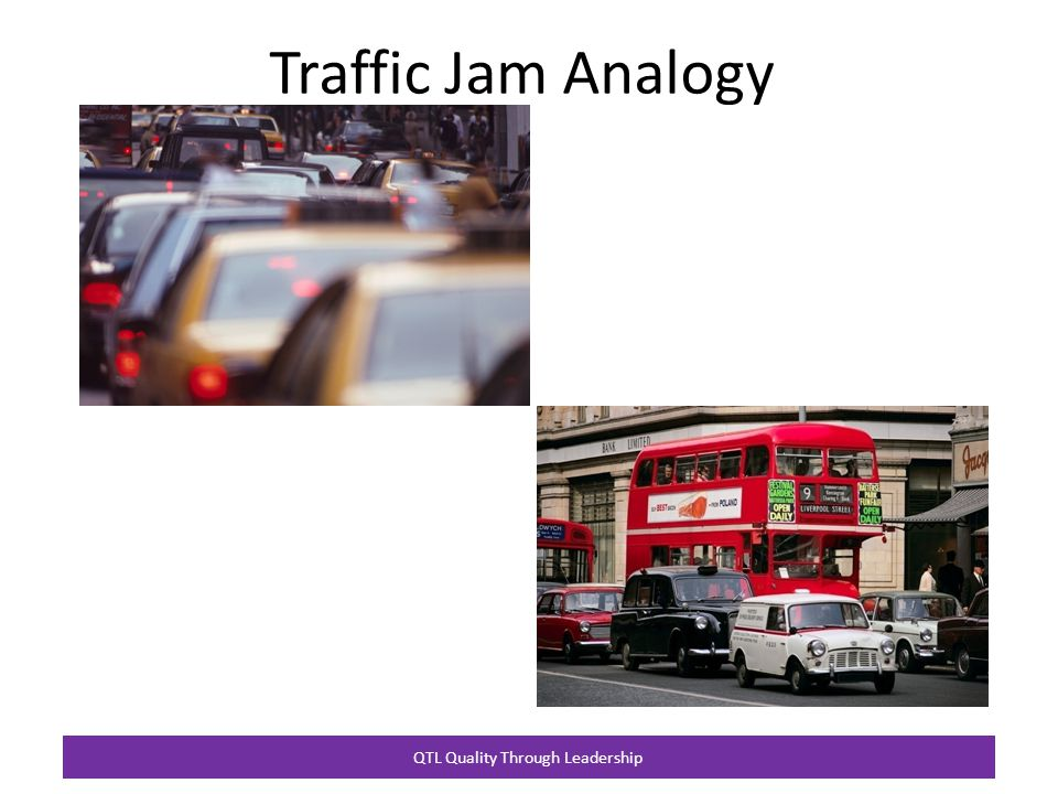 QTL Quality Through Leadership Traffic Jam Analogy