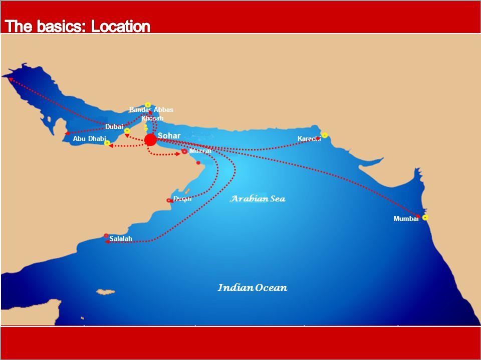 Muscat Duqm Salalah Sohar Khasab Arabian Sea Indian Ocean Abu Dhabi Bandar Abbas Karachi Mumbai Dubai