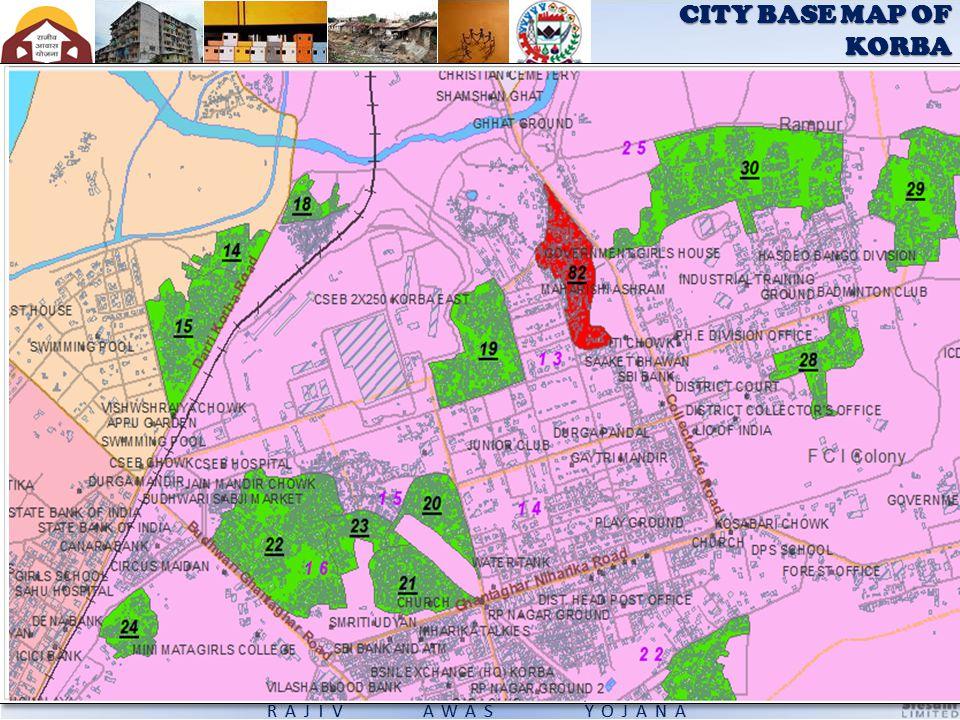 CITY BASE MAP OF KORBA