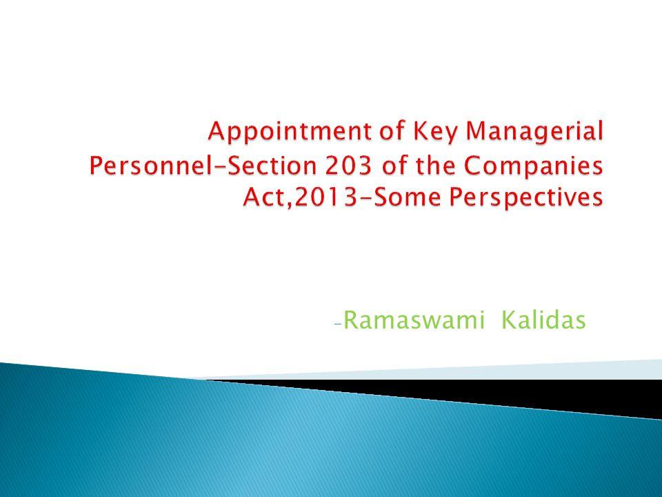 - Ramaswami Kalidas