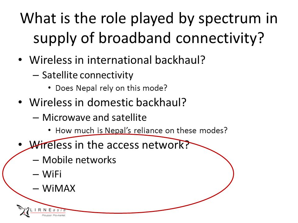What is the role played by spectrum in supply of broadband connectivity.