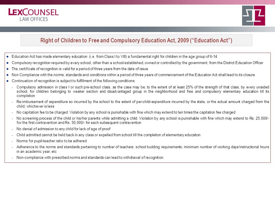 Education Act has made elementary education (i.e.