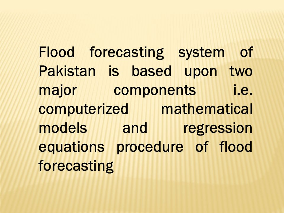 FLOOD MODELS