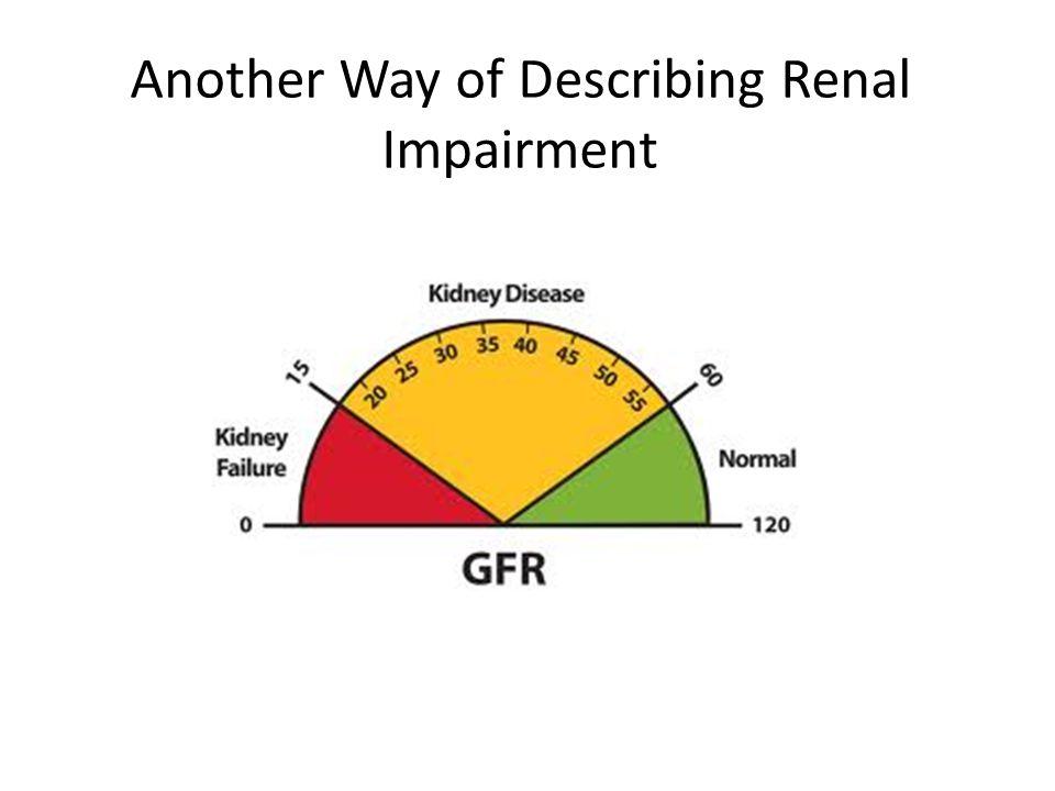 Another Way of Describing Renal Impairment