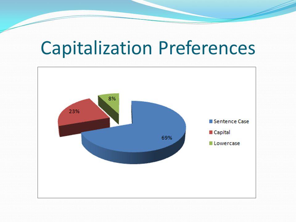 Capitalization Preferences