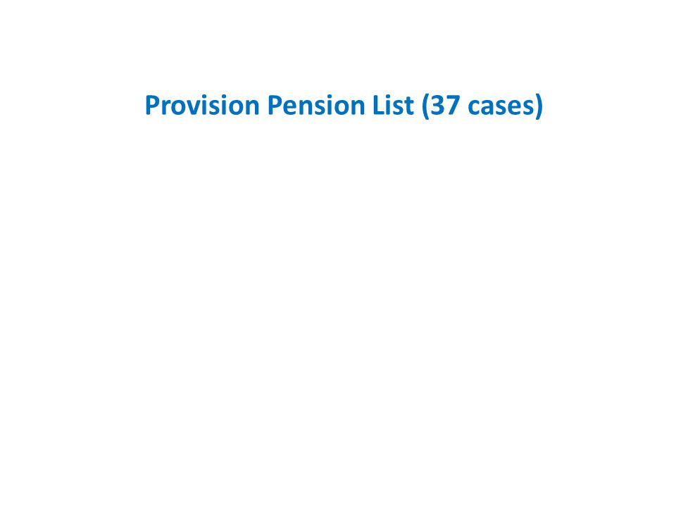 Provision Pension List (37 cases)
