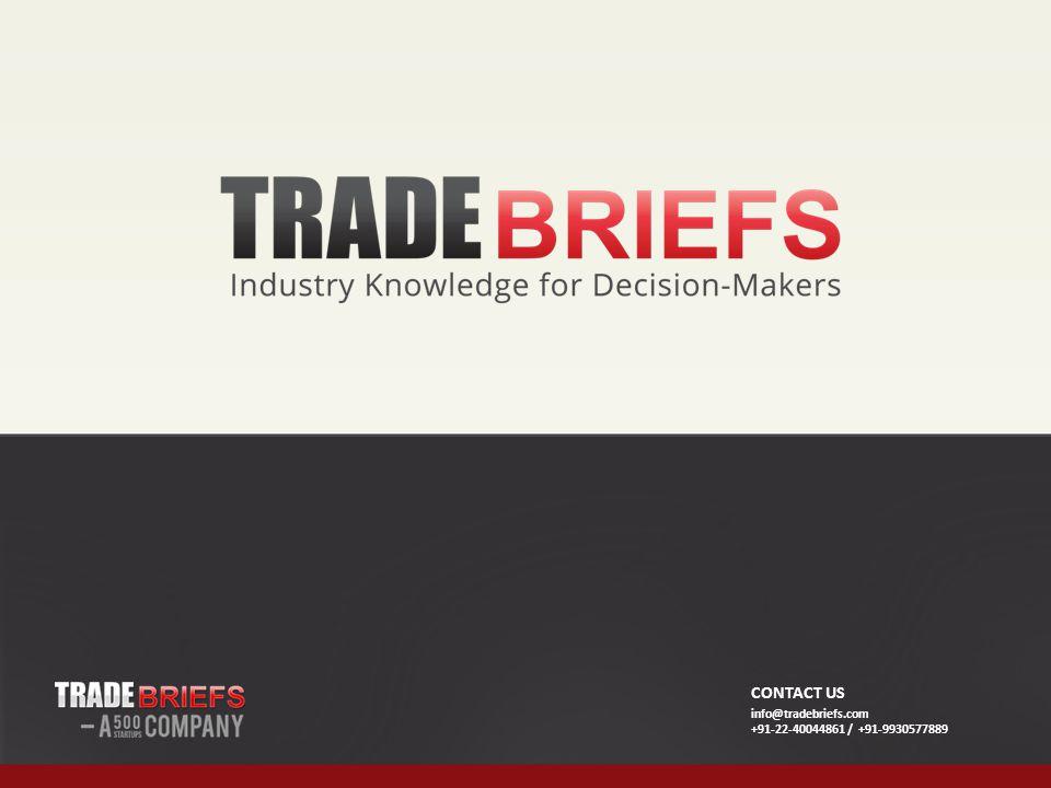 CONTACT US info@tradebriefs.com +91-22-40044861 / +91-9930577889