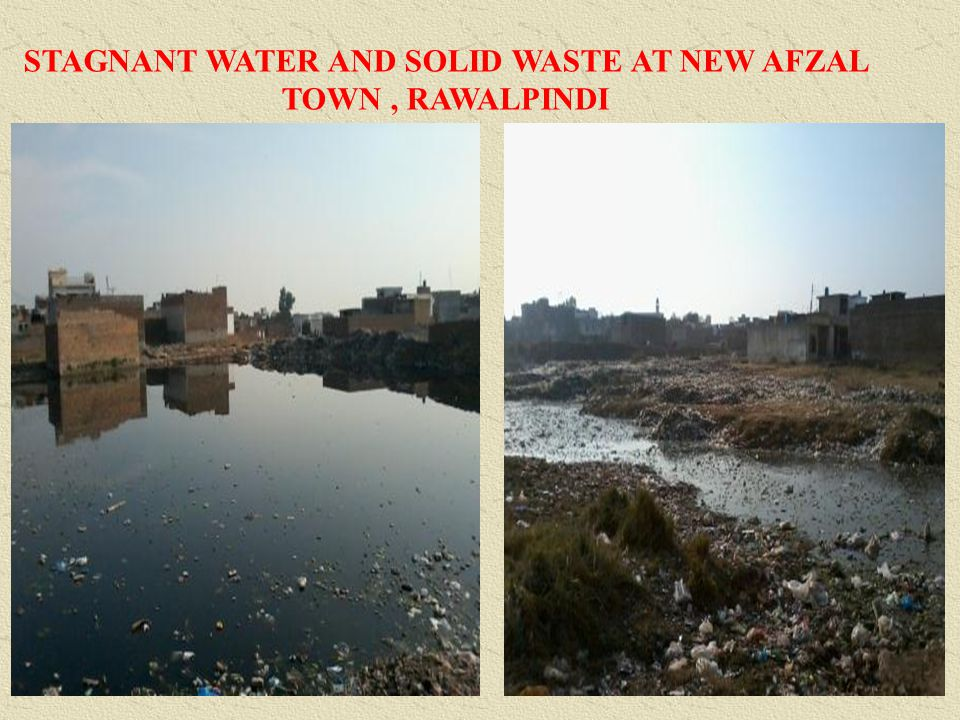 STAGNANT WATER AND SOLID WASTE AT NEW AFZAL TOWN, RAWALPINDI