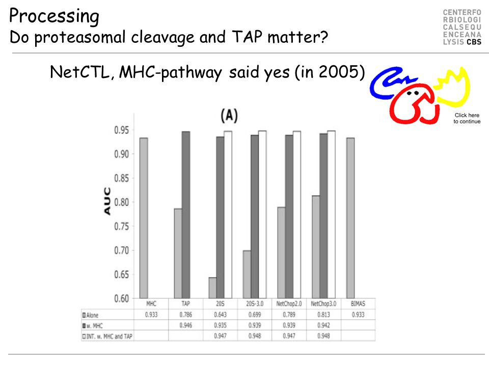 Processing Do proteasomal cleavage and TAP matter NetCTL, MHC-pathway said yes (in 2005)