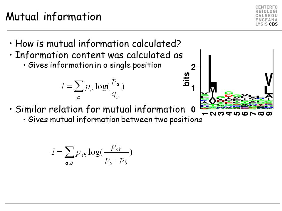 How is mutual information calculated.
