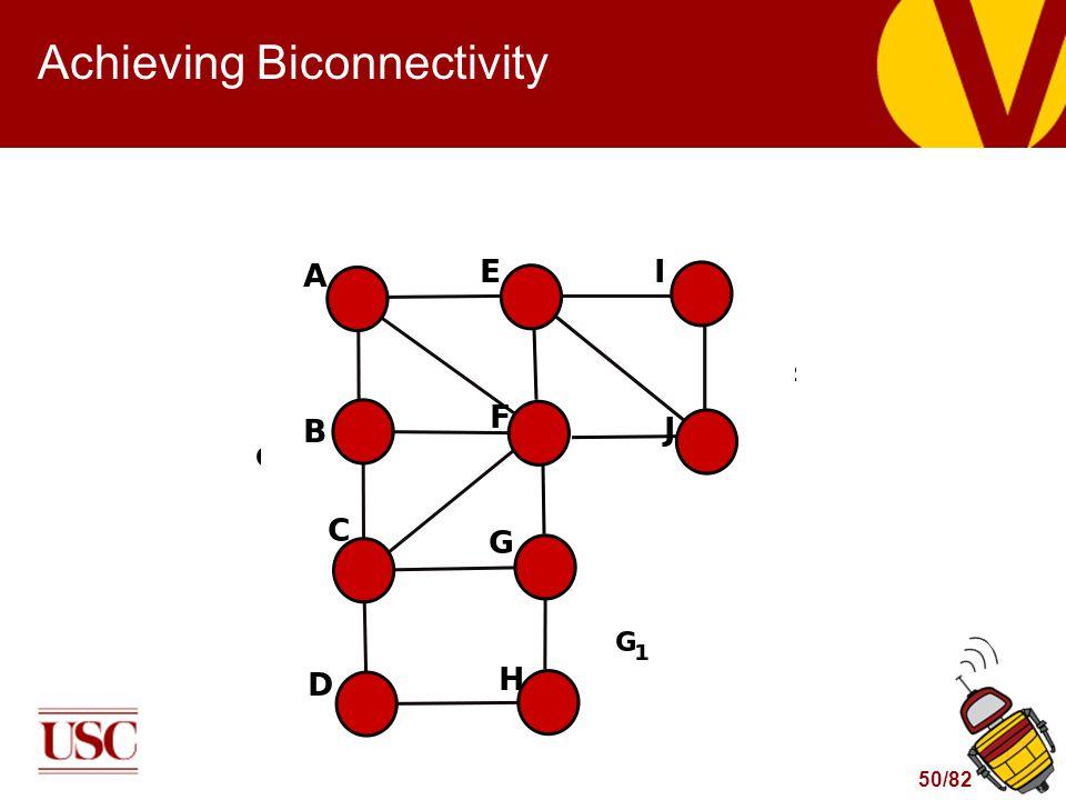 50/82 Achieving Biconnectivity
