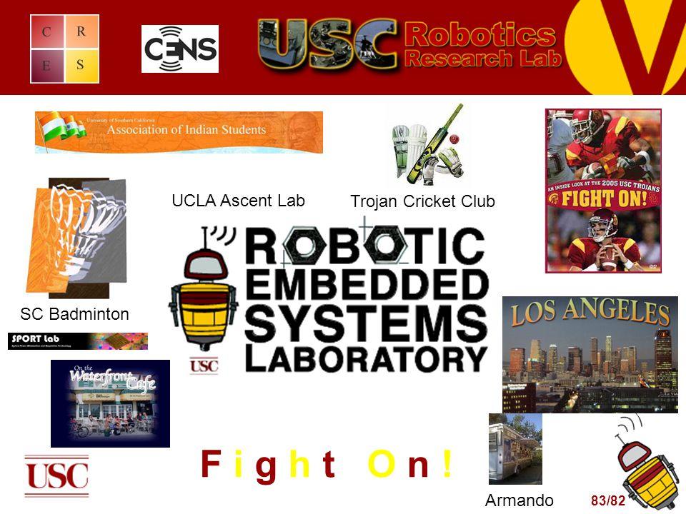 83/82 F i g h t O n ! Trojan Cricket Club SC Badminton Armando UCLA Ascent Lab