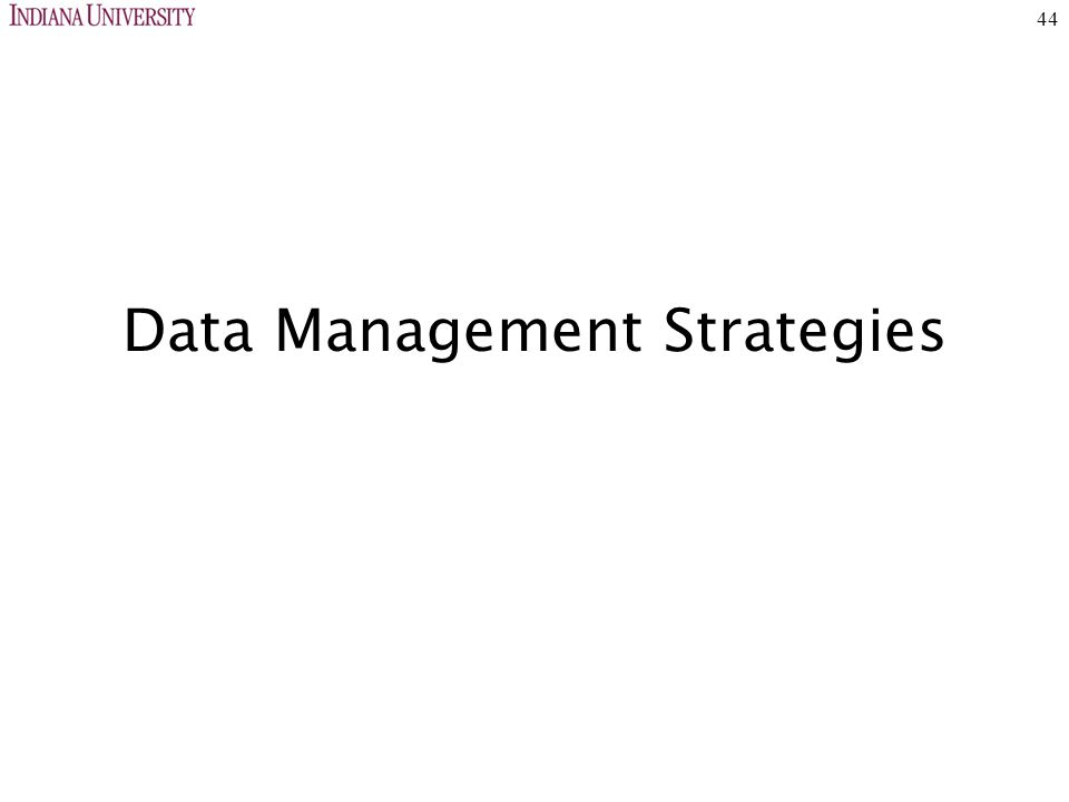 44 Data Management Strategies