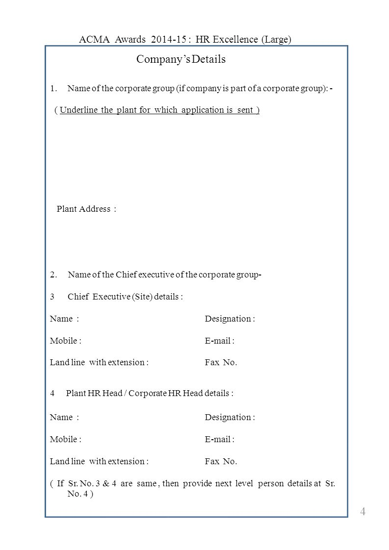 Company's Details 5.5.Company turnover ( in Rs.