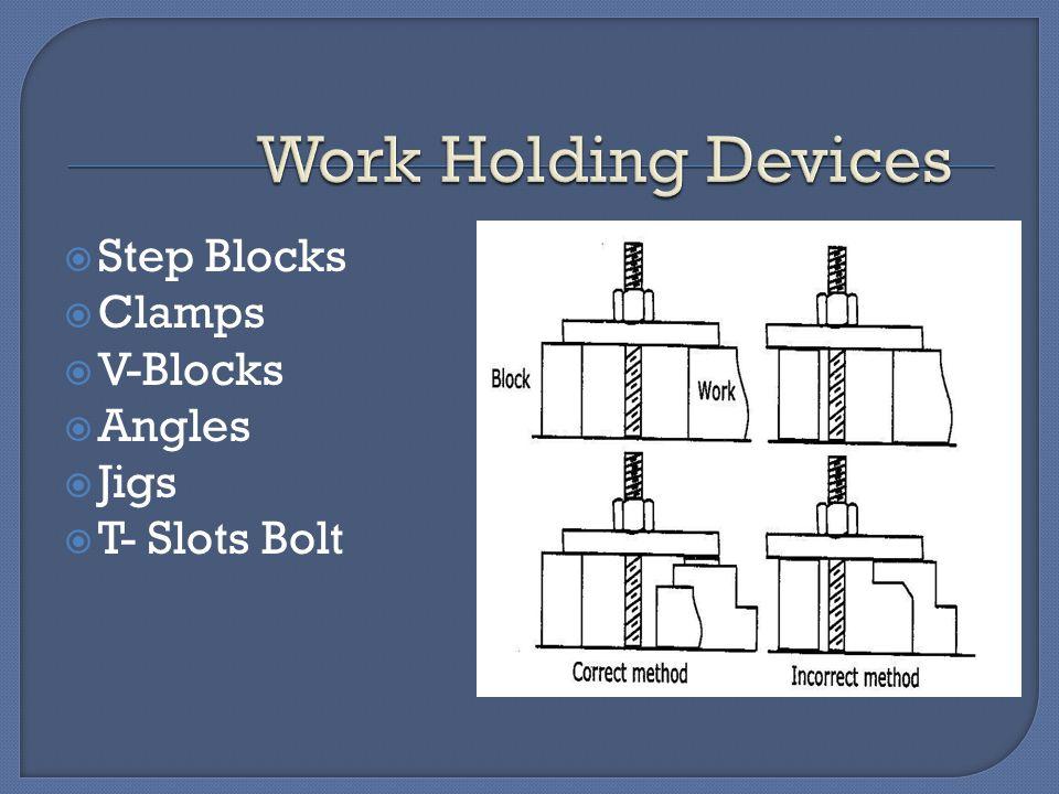  Step Blocks  Clamps  V-Blocks  Angles  Jigs  T- Slots Bolt