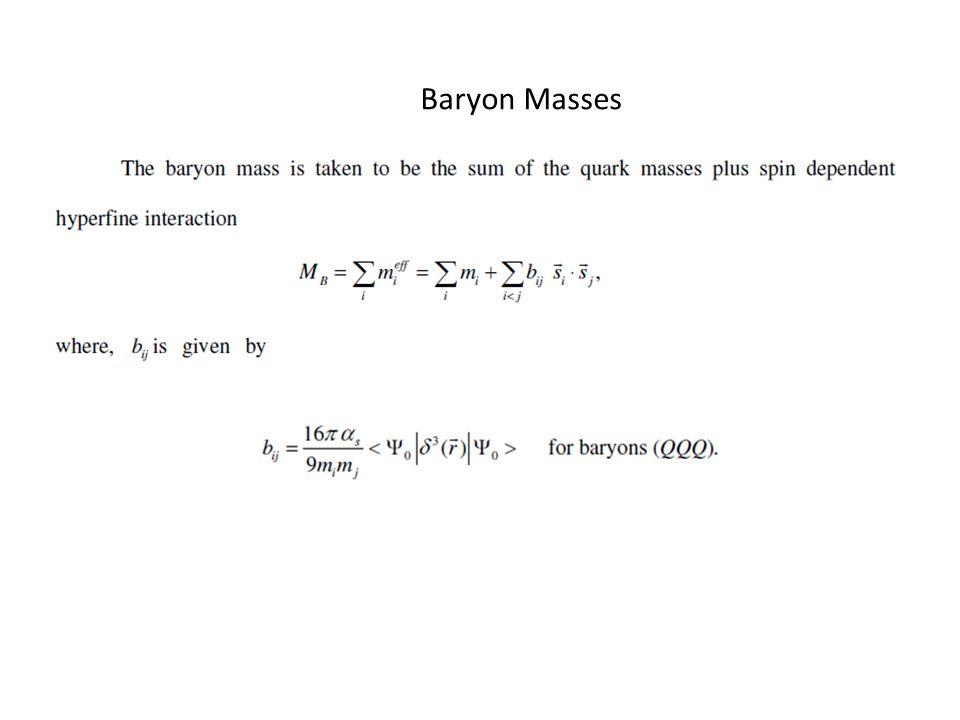 Baryon Masses