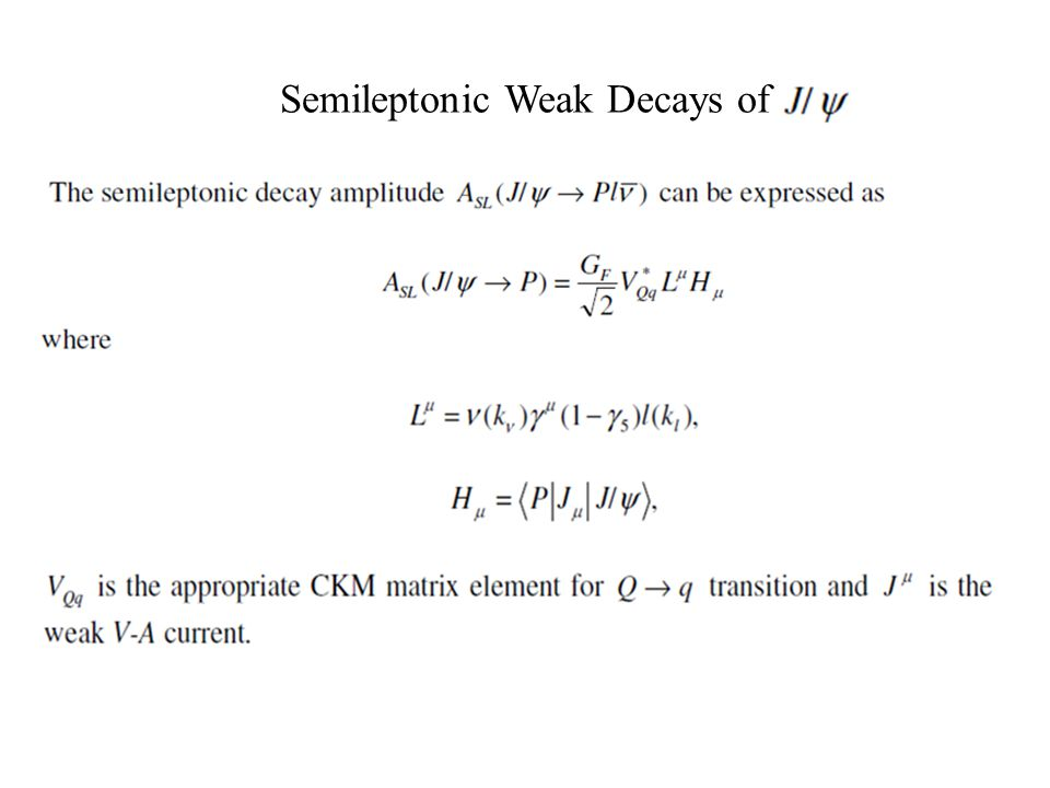 Semileptonic Weak Decays of